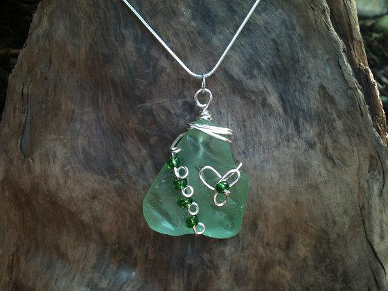 Lime Green Sea Glass - LRSGJ125