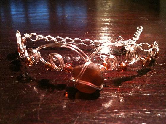 Amber Sea Glass - LRSGJ228