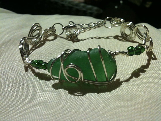 Green Sea Glass - LRSGJ289