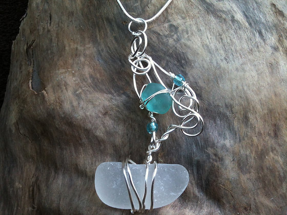 Blue Sea Glass - LRSGJ100