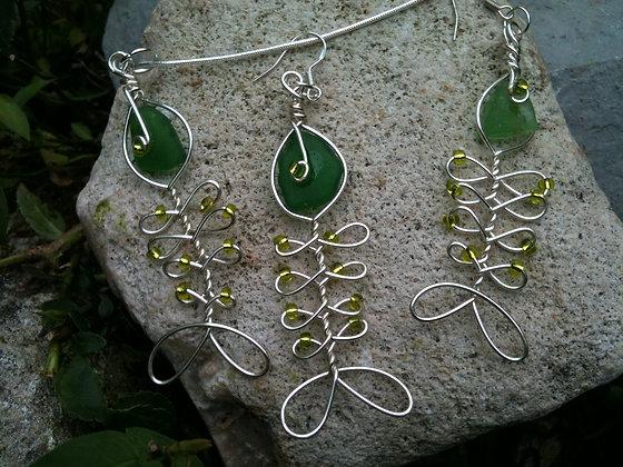 Green Sea Glass - LRSGJ296