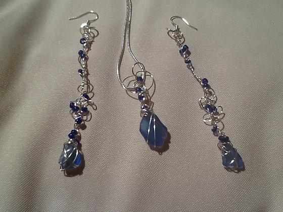 Blue Sea Glass - LRSGJ262
