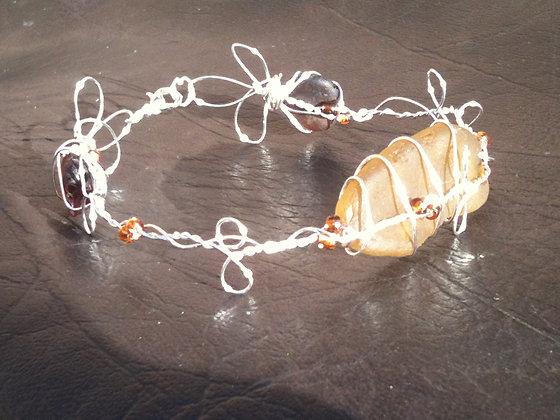 Amber Sea Glass - LRSGJ242