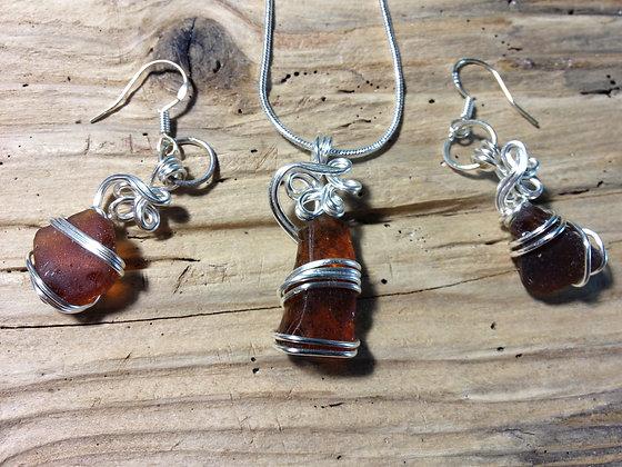 Amber Sea Glass - LRSGJ453