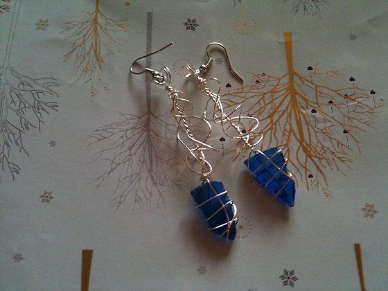 Colbalt Blue Sea Glass -LRSGJ401