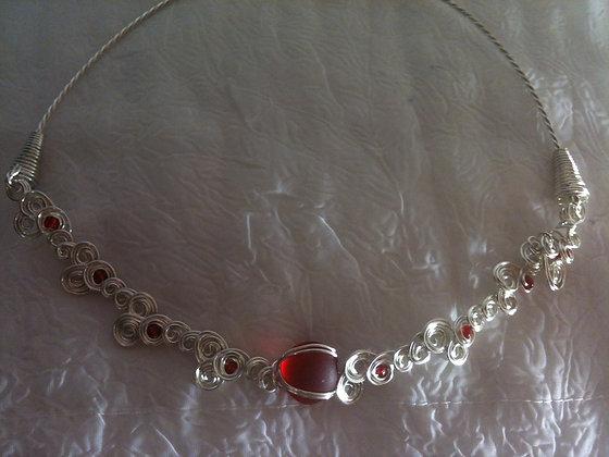 Red ( Mermaid Pearl ) Sea Glass - LRSGJ538