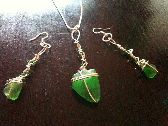 Green Sea Glass - LRSGJ397