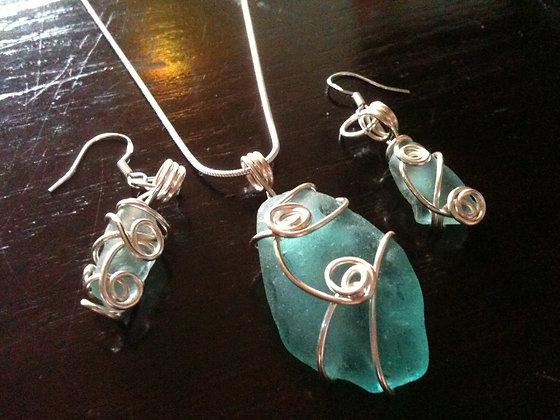 Pale Blue Sea Glass - LRSGJ370