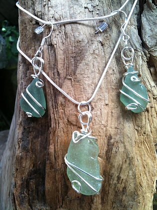 Green Sea Glass - LRSGJ119