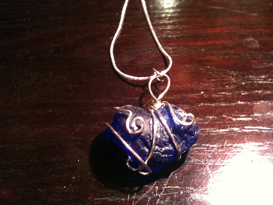 Cobalt Sea Glass - LRSGJ221