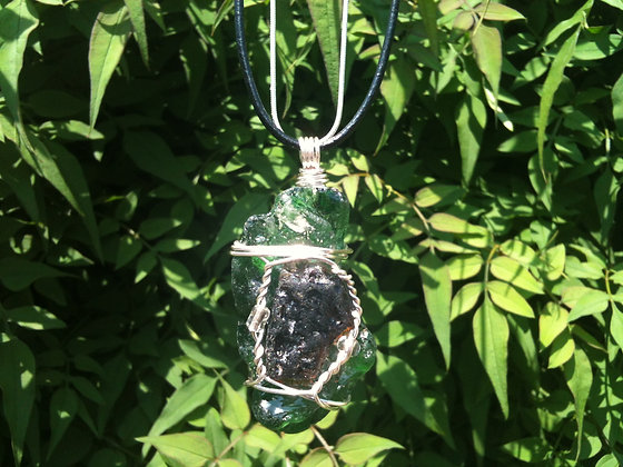 Green/Brown Sea Glass - LRSGJ237
