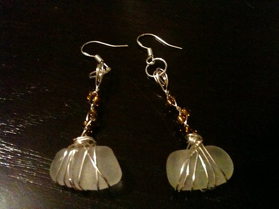 White Sea Glass - LRSGJ175