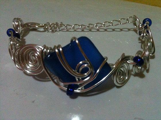 Cobalt sea Glass - LRSGJ605