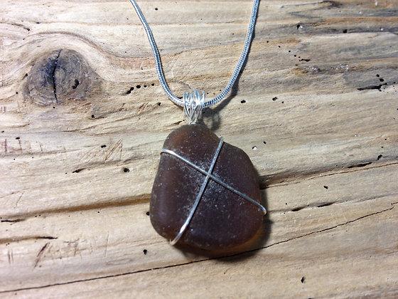 Amber Sea Glass - LRSGJ456
