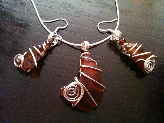 Amber Sea Glass - LRSGJ313