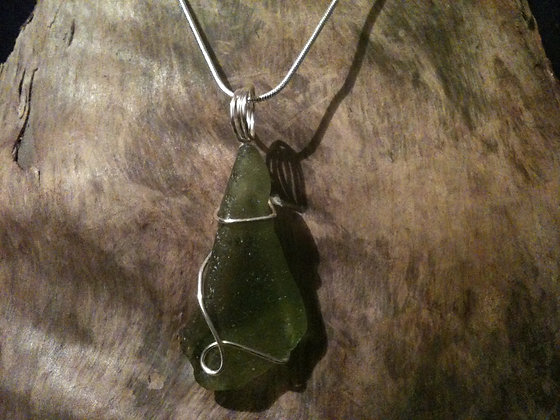 Lime Green Sea Glass - LRSGJ65