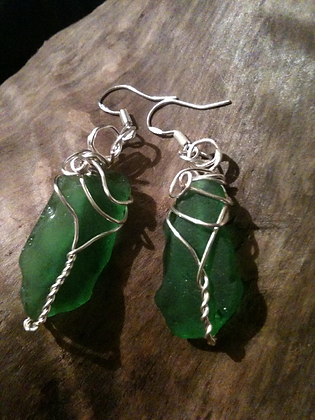 Green Sea Glass - LRSGJ91