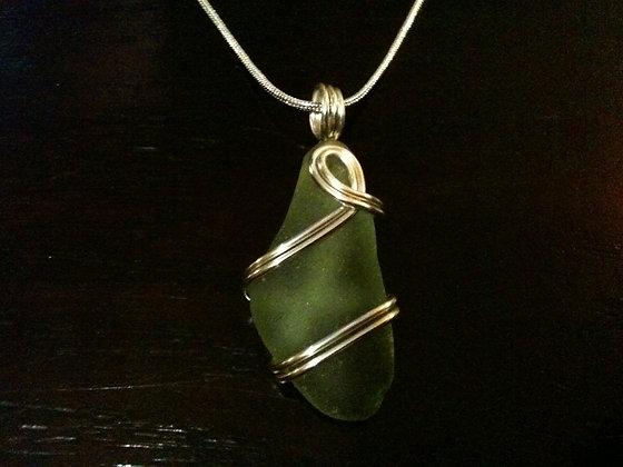 Green Sea Glass - LRSGJ387