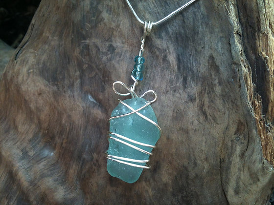 Aqua Sea Glass - LRSGJ126