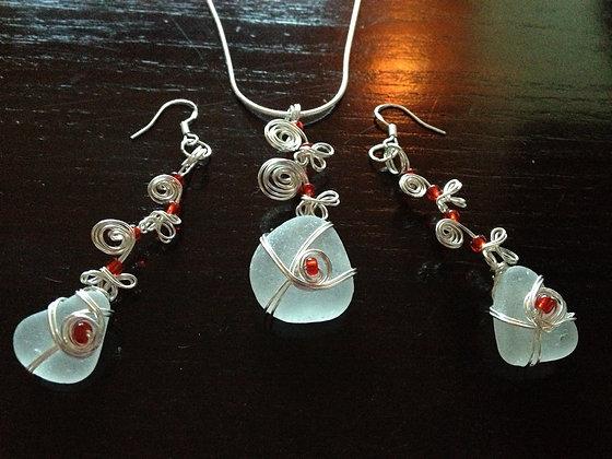 White Sea Glass - LRSGJ335