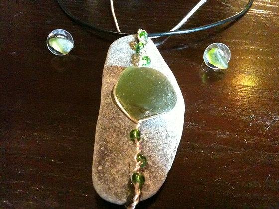Green Sea Glass - LRSGJ366