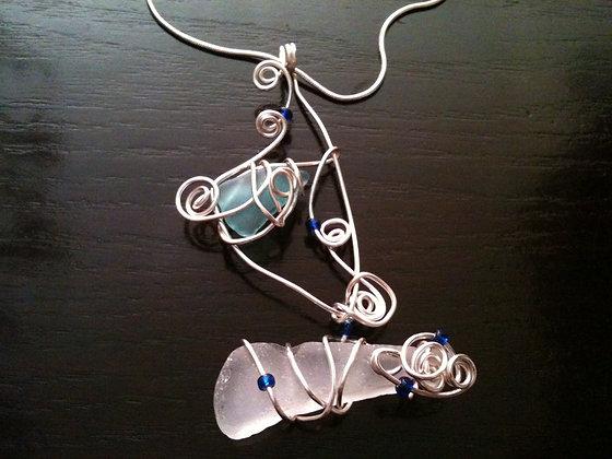 Blue Sea Glass - LRSGJ316