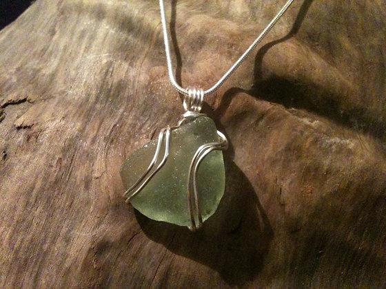 Green Sea Glass - LRSGJ46
