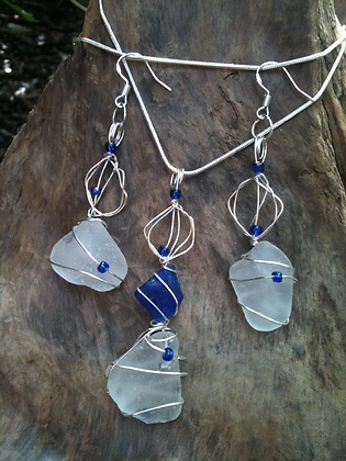 White Sea Glass - LRSGJ148