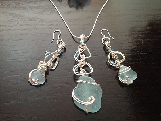 Pale Blue Sea Glass - LRSGJ337