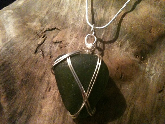 Green Sea Glass - LRSGJ48