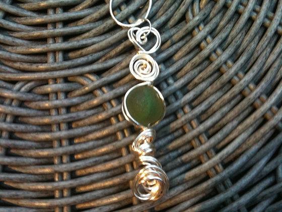 Green Sea Glass Marble - LRSGJ271
