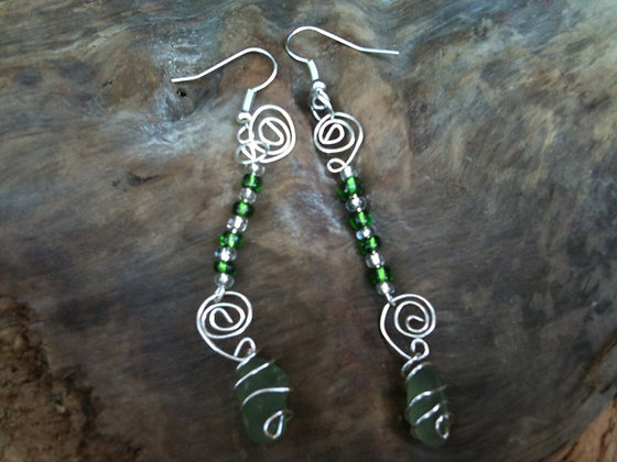 Green Sea Glass - LRSGJ102