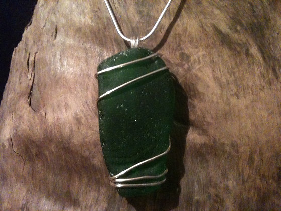 Green Sea Glass - LRSGJ61