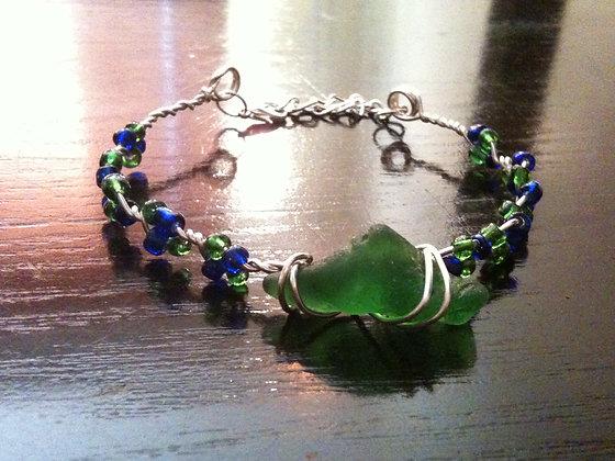 Green Sea Glass - LRSGJ214