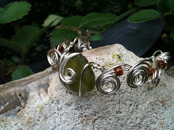 Green Sea Glass - LRSGJ302