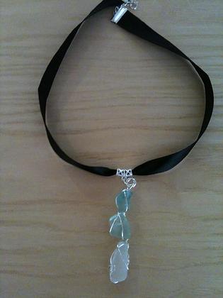 Green and White Sea Glass - LRSGJ2
