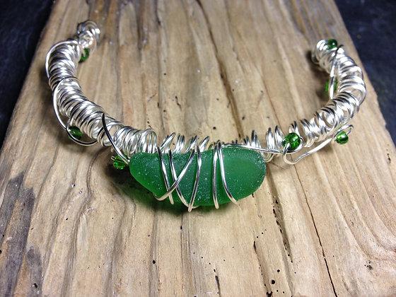 Green Sea Glass - LRSGJ409