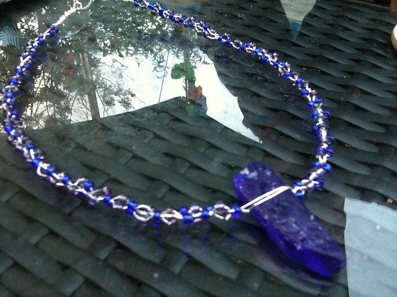 Cobalt Sea Glass - LRSGJ342