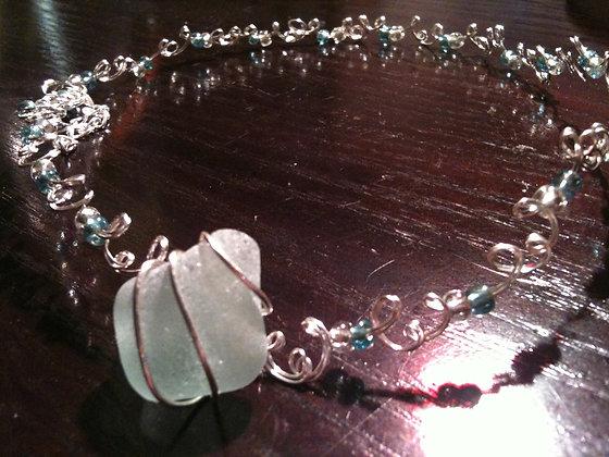 White Sea Glass - LRSGJ213