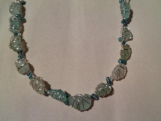 Aqua, White Sea Glass - LRSGJ260