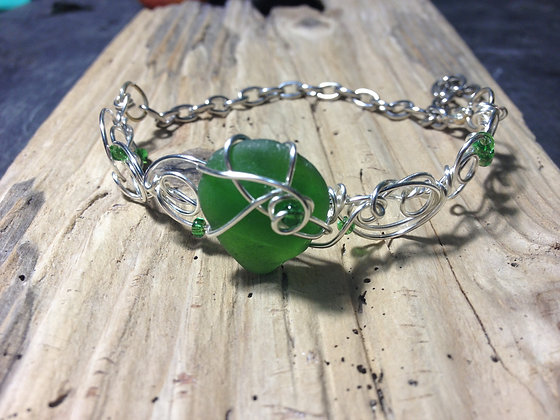 Green Sea Glass - LRSGJ417
