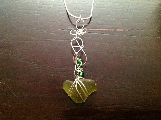 Lime Green Sea Glass - LRSGJ250