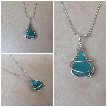 Teal Sea Glass - LRSGJ618