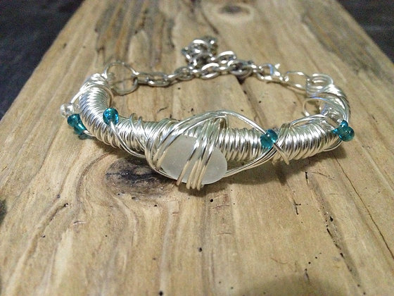 White Sea Glass - LRSGJ418