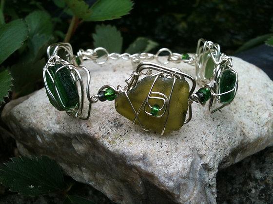 Green Sea Glass - LRSGJ305