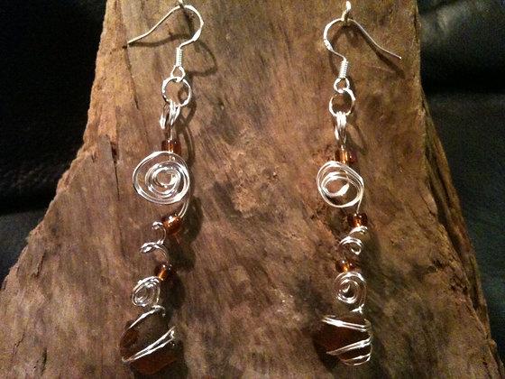 Amber Sea Glass - LRSGJ208