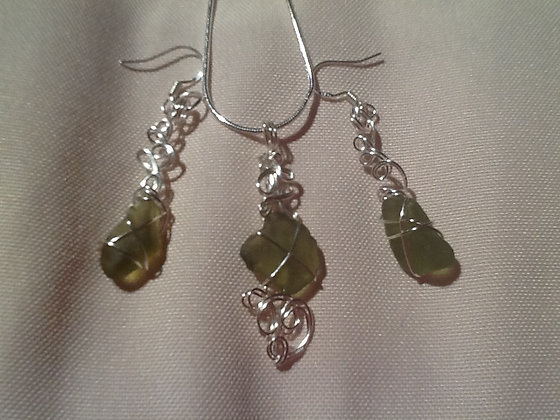 Green Sea Glass - LRSGJ266