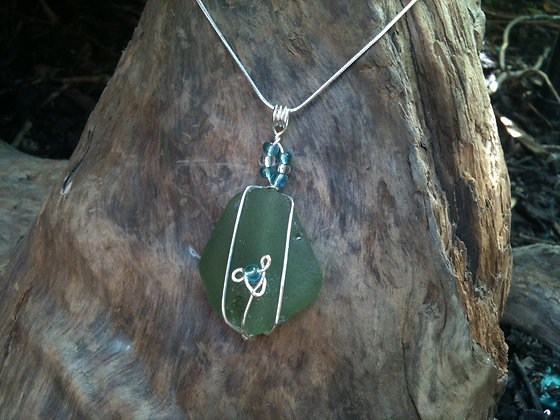 Green Sea Glass - LRSGJ127