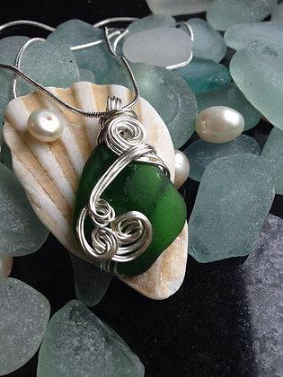 Green Sea Glass - LRSGJ608