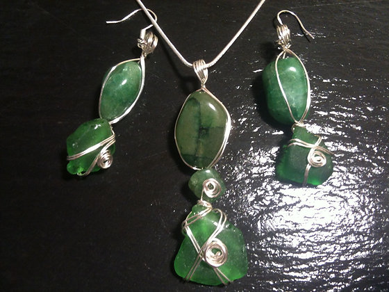 Green Sea Glass - LRSGJ514